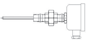 Thermocouple with connection head/nipple/union