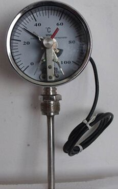 Bimetal Thermometer with electric contact